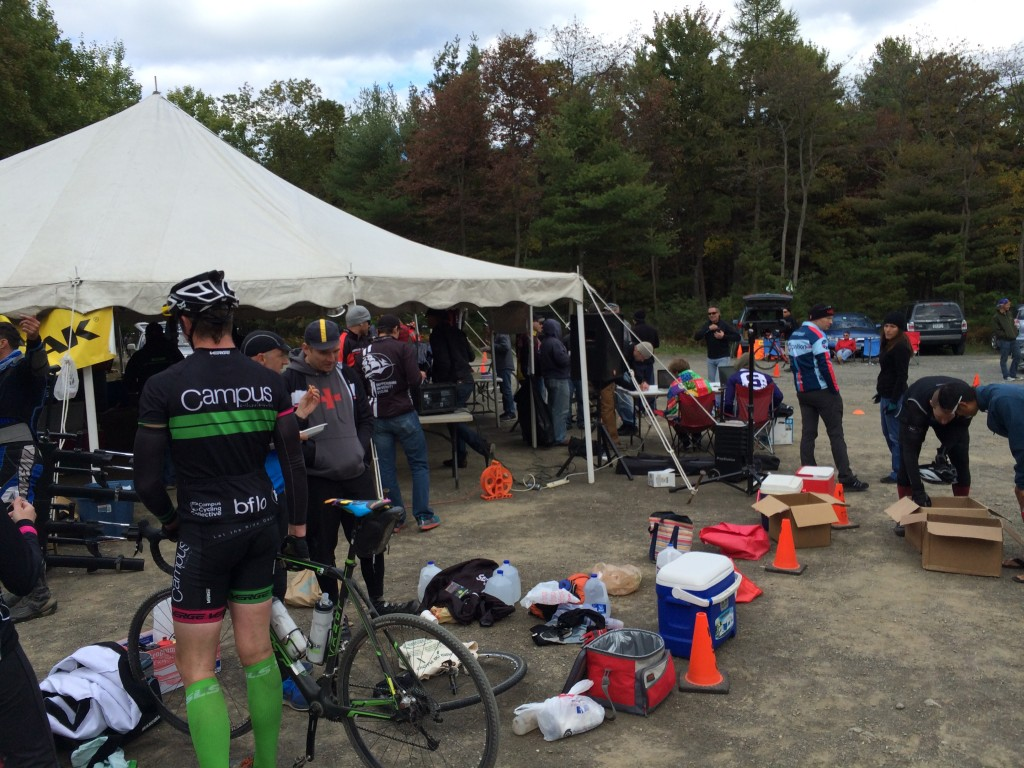 The post-race scene at Big Flat - start/finish.