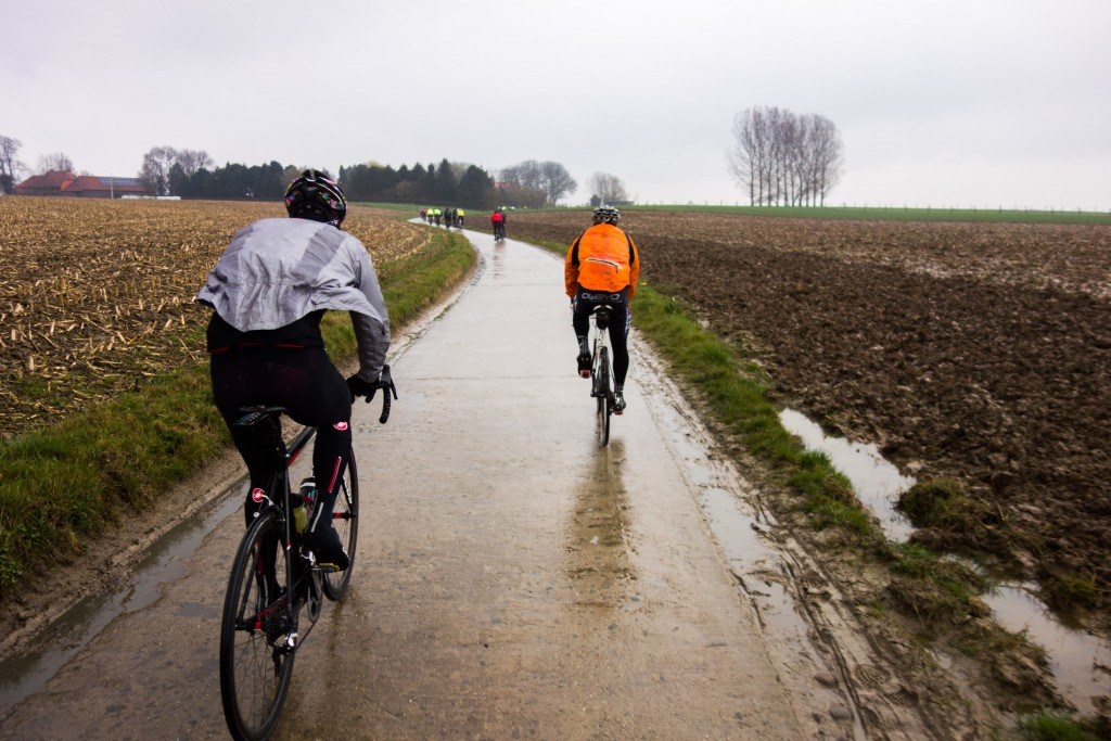 The entire country of Belgium is saturated with water in the spring.