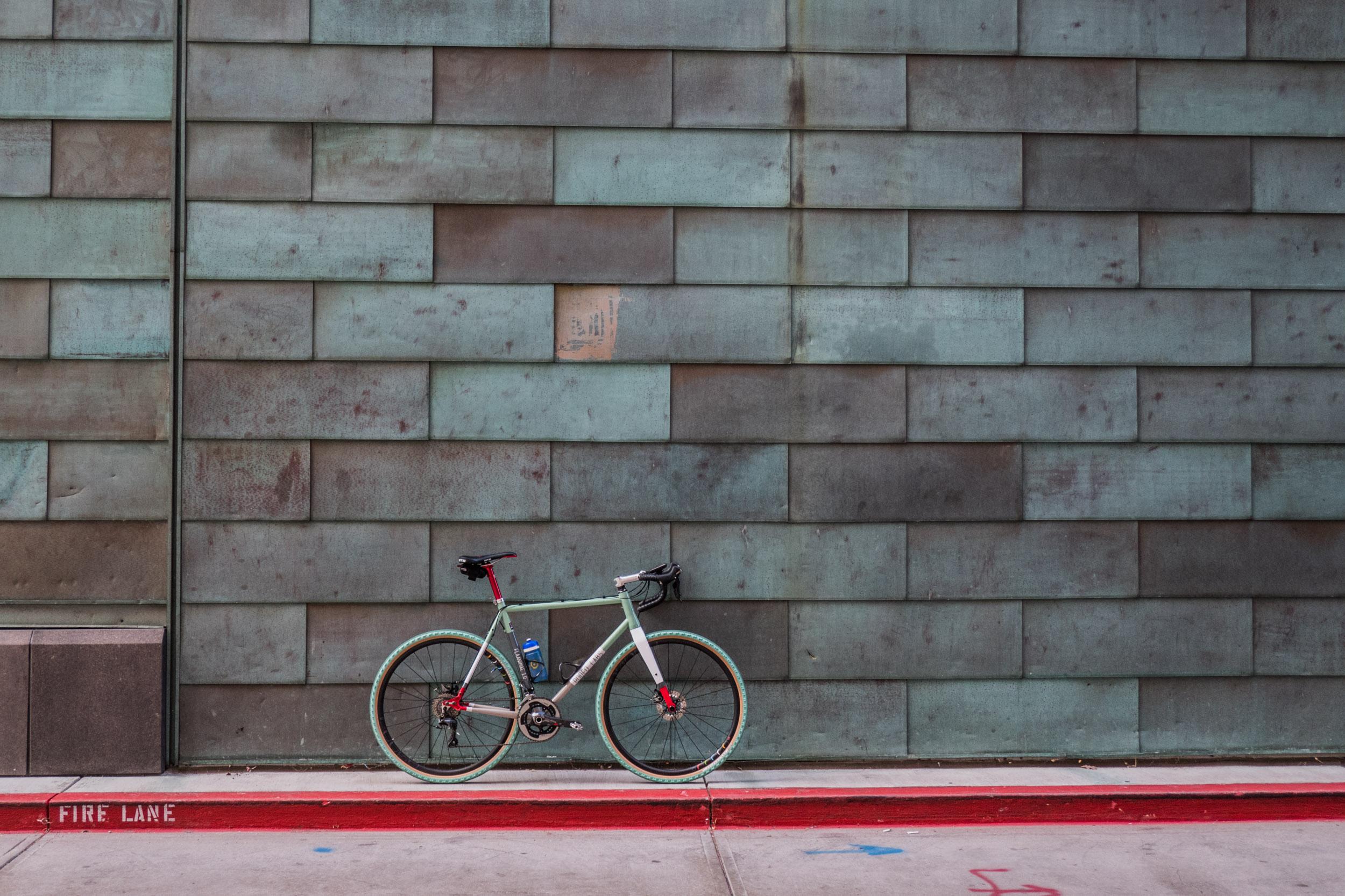 Flaanimal in gravel bike spec. Downtown Denver, CO