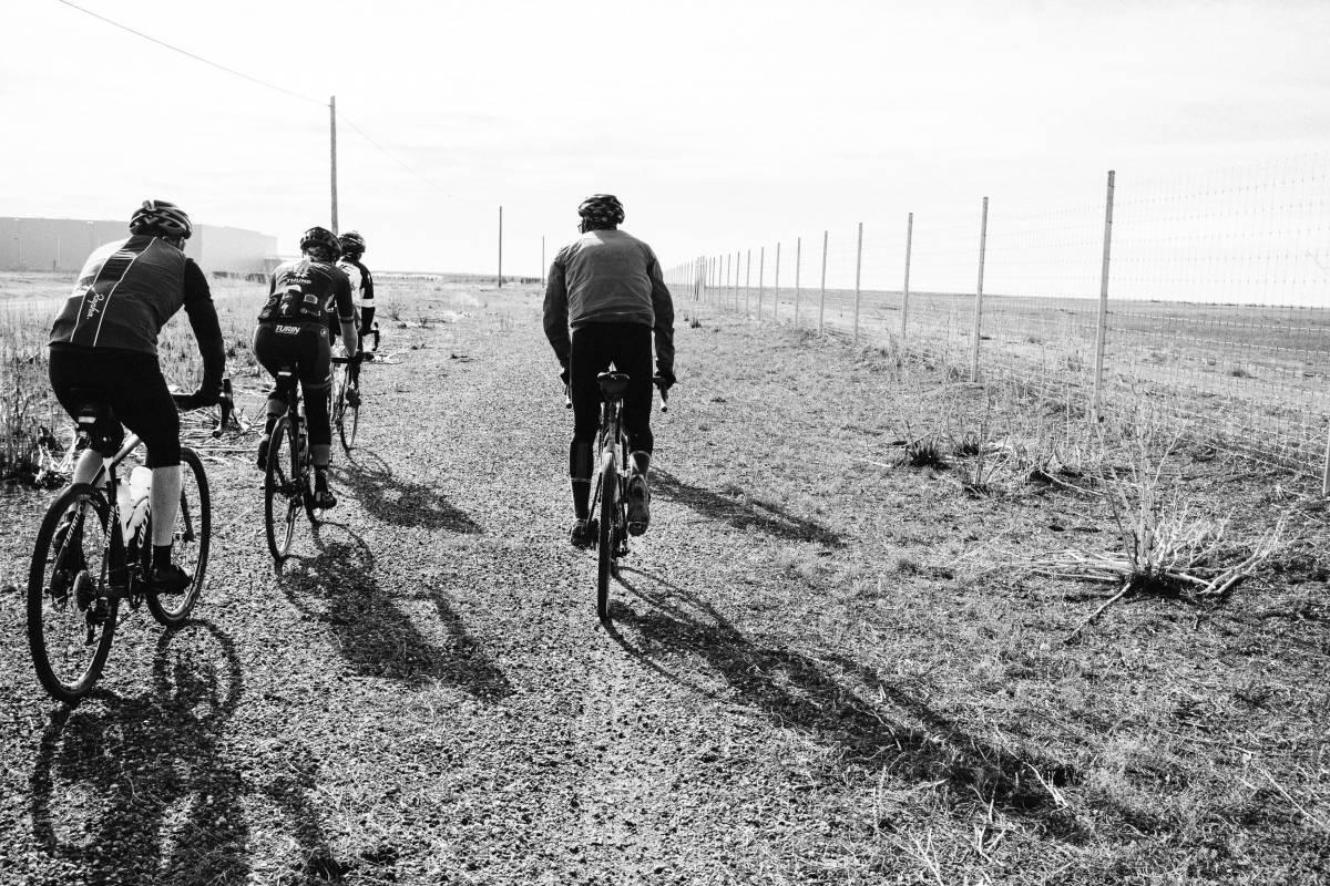 Riding gravel east of Denver
